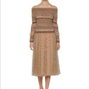 Self Portrait Polka Dot Print Midi Dress
